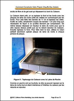 Construction Chauffe-Eau Solaire-Caisson